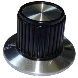 Couleur 4 boutons de potentiomètre pour axe moleté 6mm Ø22x12mm noir