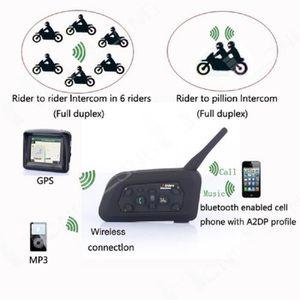 INTERCOM MOTO V6 Interphone Moto Bluetooth Lot de 2 Intercom Hau