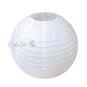 LANTERNE FANTAISIE Lampion Lanterne de Papier Blanc Ballon Dia 30cm D