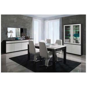 BUFFET - BAHUT  Bahut design FABIA - Blanc et noir - 165