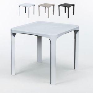 Grande table de jardin plastique