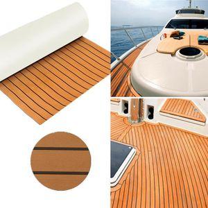 Teak-Yacht Rev/êtement de sol en mousse EVA pour Yacht Wohnmobil 240 x 90 x 0,6 cm Marron fonc/é marron fonc/é