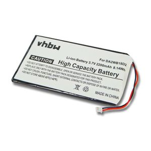 BATTERIE - CHARGEUR Batterie Li-Po longue durée 2200mAh pour IRIVER H1