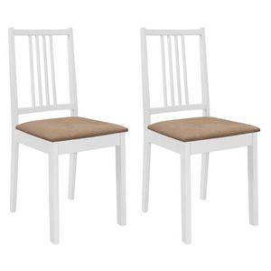 TABLE DE CUISINE  vidaXL 2 pcs Chaise de salle à manger avec coussin