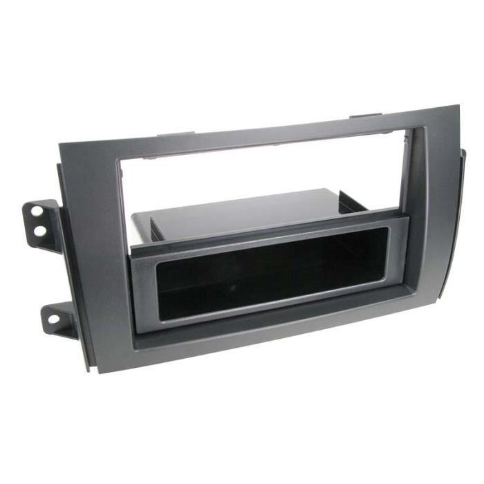 Adaptateur de façade 2-DIN avec vide poche Sedici / Suzuki SX4 > noir