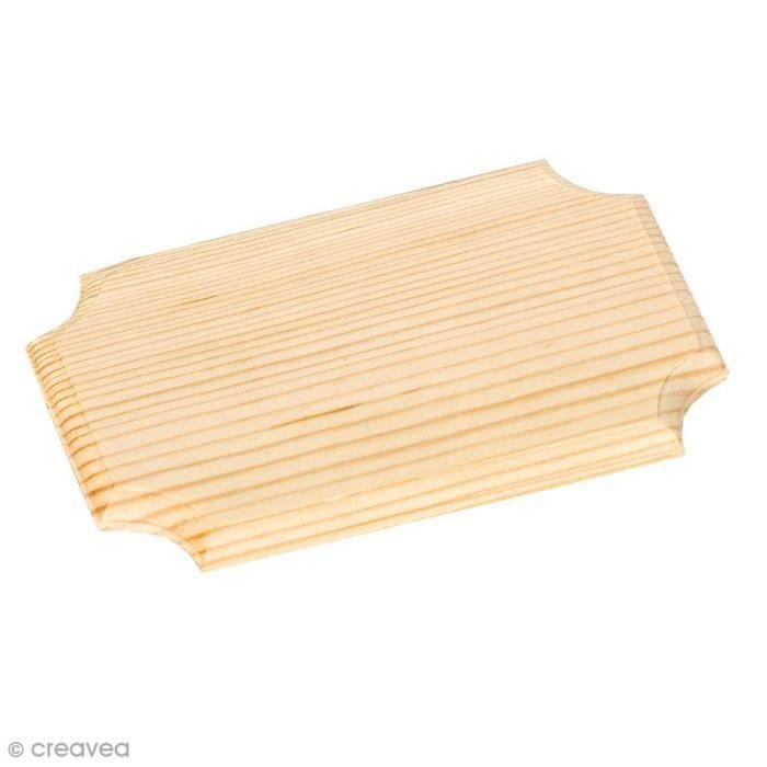Plaque en bois - 16 x 10 cm Plaque en bois à décorer et personnaliser : - Dimensions : 16 x 10 cm - Epaisseur du bois : 8 mm environ