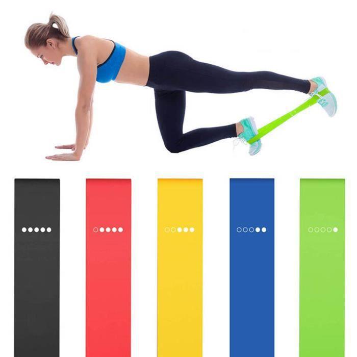 bande de résistance de yoga anneau de caoutchouc extensible équipement de fitness de sport musculation fitness 5 pièces de