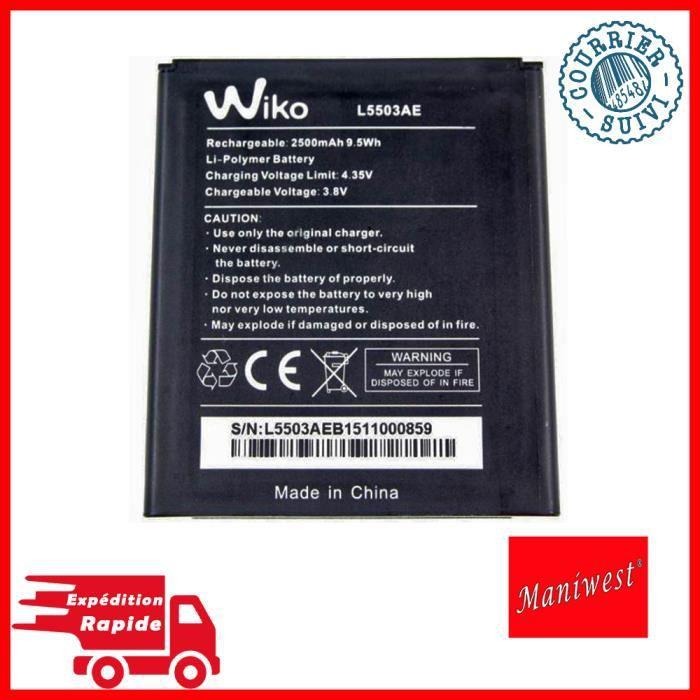 100% ORIGINALE Batterie Wiko L5503AE 2500mAh 9,5Wh pour Wiko Rainbow 4G~