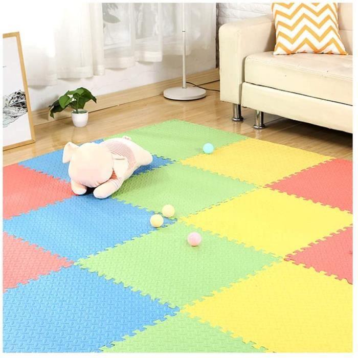 Puzzles de sol RUIRUIY Tapis Mousse Enfant EVA Interverrouillage Tapis De Protection De Sol Gym Yoga Tapis Chambre, 10 C 320318