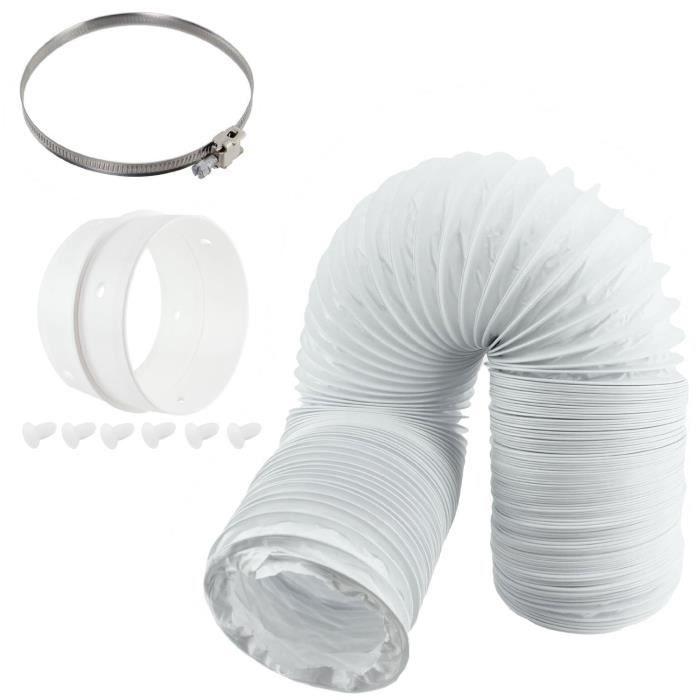 spares2go universel Sèche-linge ventilé (10,2 cm-100 mm Diamètre) Tuyau d'aération et kit extension Anneau: Gros électroménager