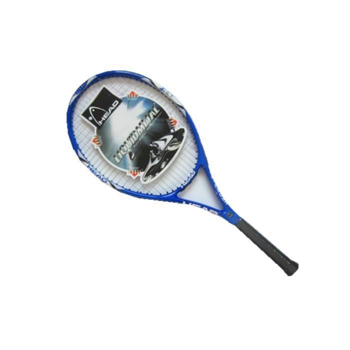 Raquettes de tennis en fibre de carbone ultra légères antichoc et anti-projection bleu