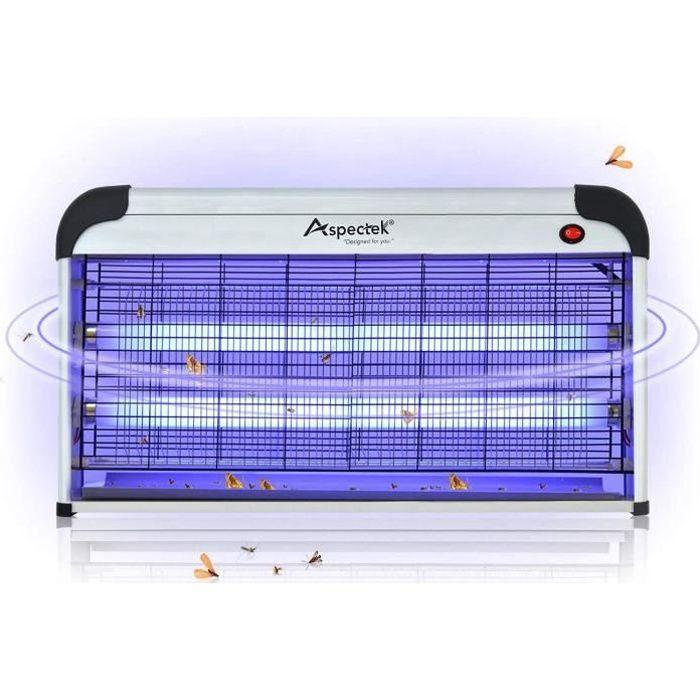 ASPECTEK Lampe UV Tue-Mouches Destructeur d' Insectes Electrique Tue Mouche Electrique Lampe Insecte (40W)