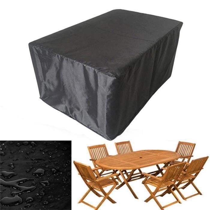 210D Bâche Jardin Patio Table Basse Chaise Canapé Imperméable Ensemble Protection 325*208*58CM L59288