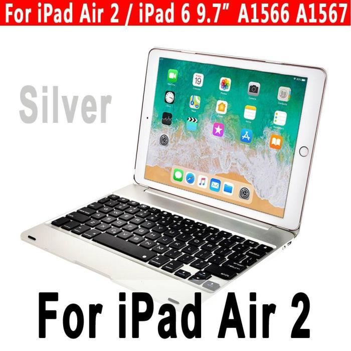 Clavier intelligent pour Apple iPad 9.7 2017 2018 5th 6th Génération Étui à Clavier Bluetooth pour iPad Air 1 2 5 6 Pro *CL1674