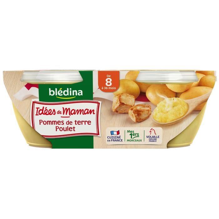 BLEDINA Les idées de maman Purée de Pomme de terre poulet - Dès 8 mois - 2x200 g
