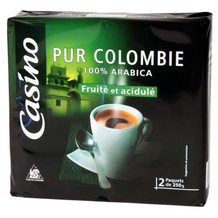 Lot de 2 Cafés moulus - Pur Colombie - 100% arabica - 250 g