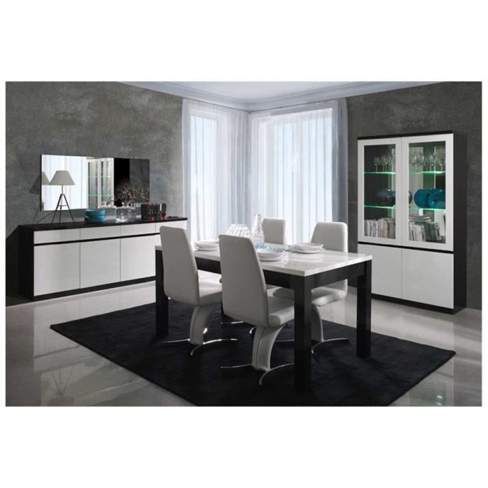 Bahut design FABIA - Blanc et noir - 165