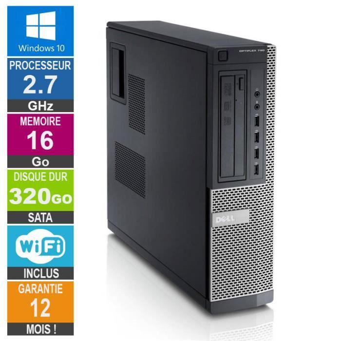 Pc Dell Optiplex 790 Dt G630 2.70Ghz 16Go/320Go Wifi W10
