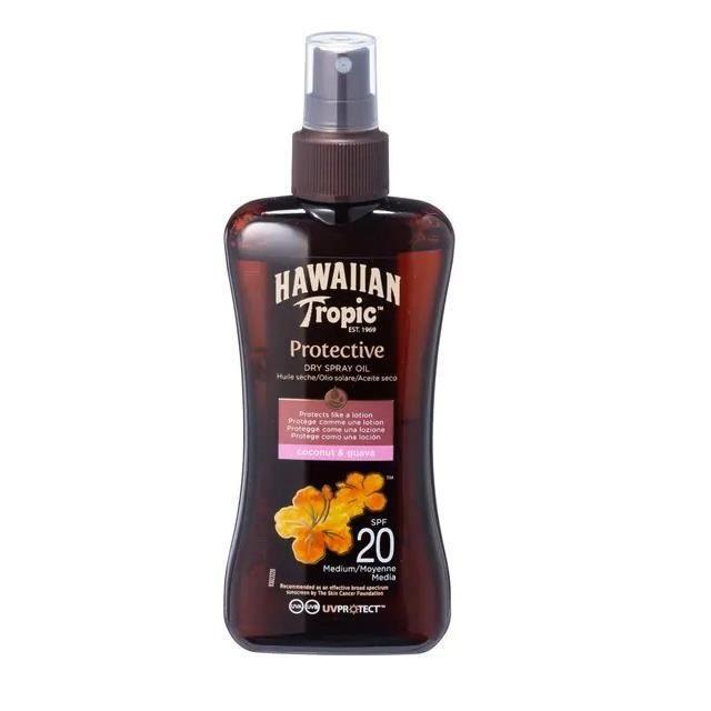 Hawaiian Tropic Protective huile solaire en spray SPF 20, 200 ml