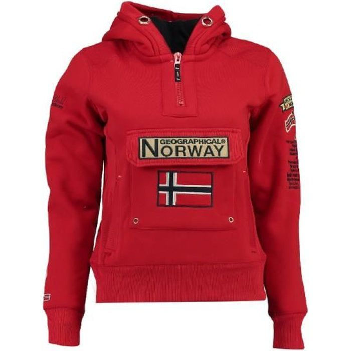 Sweat Femme Geographical Norway Gymclass New B Rouge