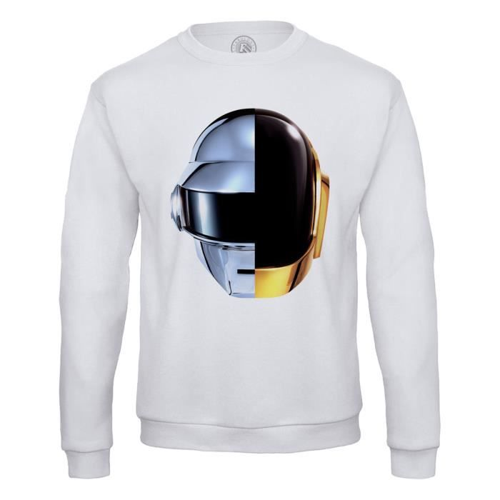 Sweat Shirt Homme Daft Punk Casques Robot RAM French Touch Electro