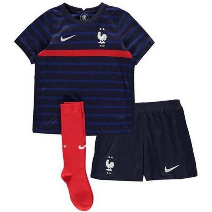 Ensemble complet Mini-Kit Officiel Enfant Nike Equipe de France Football Domicile Euro 2020