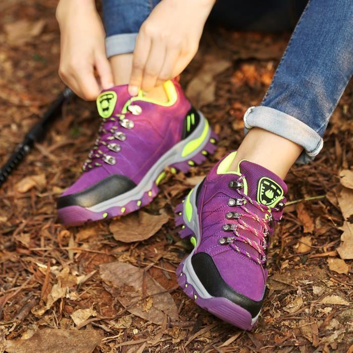 Femmes Sports de plein air Escalade Chaussures de randonnée Chaussures de randonnée imperméables Mauve
