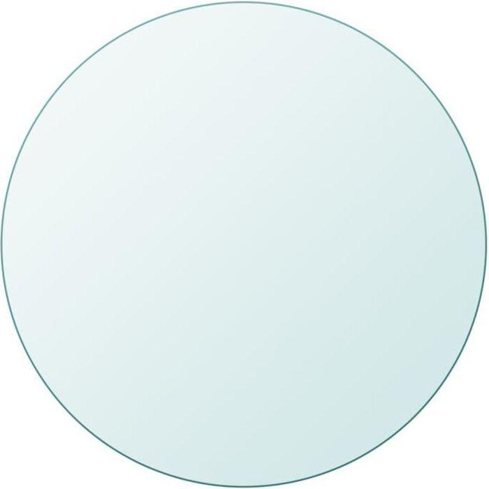 Dessus de table Plateaux de table ronde en verre trempé 500 mm