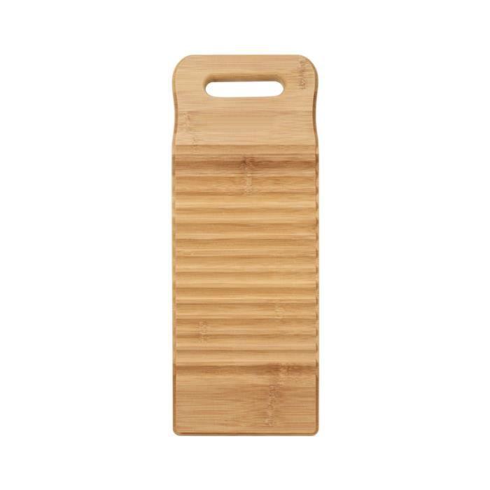 1 Pc maison planche à laver à en bois de bambou créatif à à récurer pour laverie automatique PLANCHE A DECOUPER