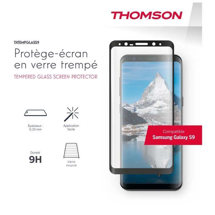 Protège écran en verre trempé Thomson pour Samsung Galaxy S9
