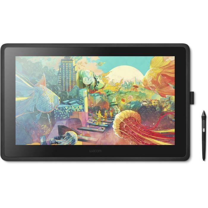 Wacom Cintiq 22 - Tablette graphique tactile avec écran Full HD 21.5- et stylet Pro Pen 2 ( Catégorie : Tablette graphique )