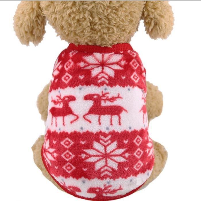 Color 11-XL -Vêtements de noël pour chiens - Manteau Chihuahua,Costume d'hiver pour petits chiens et grands chiens,vêtements d'ani