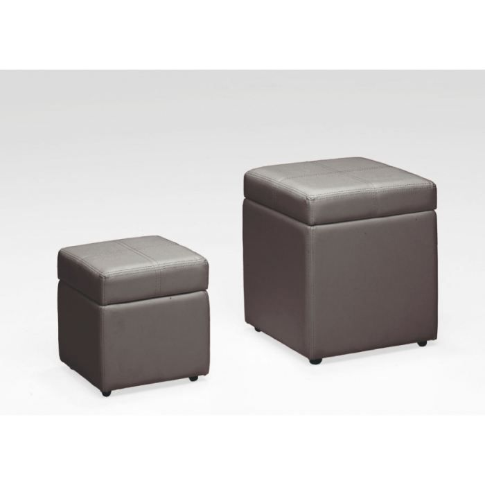 poufs coffres tic et tac coloris taupe achat vente pouf poire simili bois pin. Black Bedroom Furniture Sets. Home Design Ideas