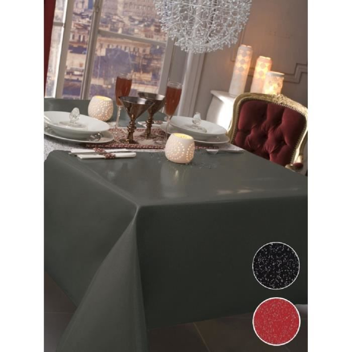 nappe en toile cir e rectangulaire 140x200 cm paillet gris achat vente nappe de table. Black Bedroom Furniture Sets. Home Design Ideas
