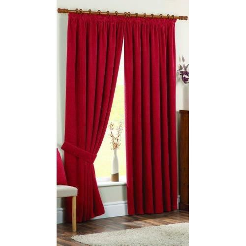 dreams 39 n 39 drapes rideau doublure thermique avec ourlet 8 cm 228 x 137 cm rouge achat. Black Bedroom Furniture Sets. Home Design Ideas