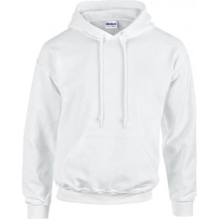 sweatshirt homme blanc