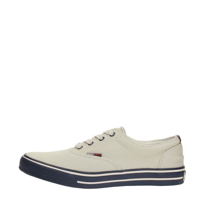 Tommy Hilfiger Sneakers Homme OFF WHITE, 45