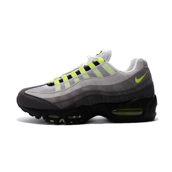 Nike Air Max 95 OG Baskets Gris Vert Gris Vert - Cdiscount Chaussures