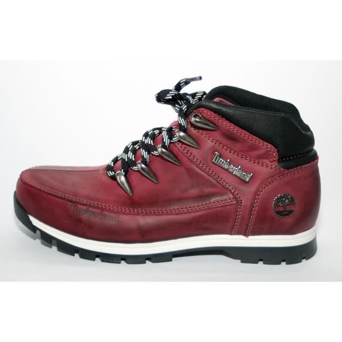BOTTINES MIXTE CUIR BORDEAUX SPRINT TIM T 39