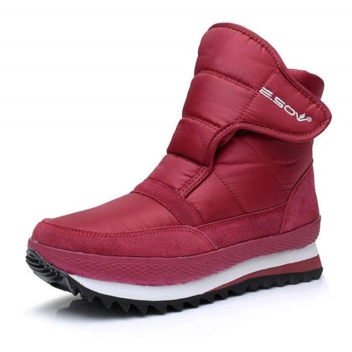 Outdoor Bottes Sneakers Fourrées Chaussures Mode Femme Neige Imperméables Snow Homme Scratch Boots Hiver Confortable Bottine Chaude cTFKl1J3