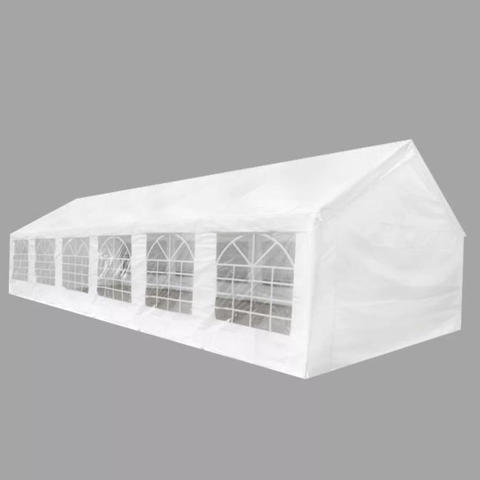 TONNELLE - BARNUM Tente de réception blanche 12 x 6 m