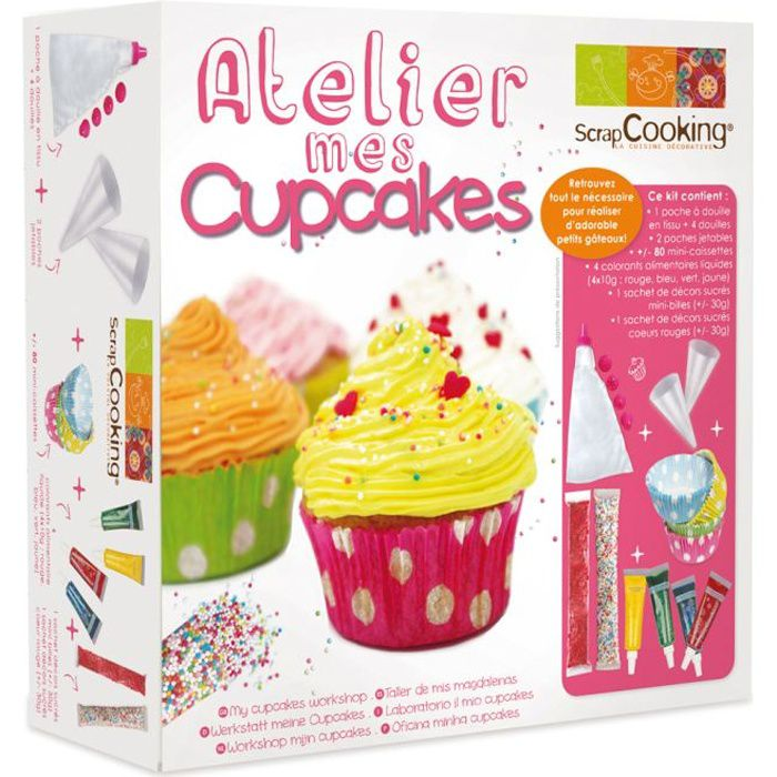coffret atelier mes cupcakes scrapcooking achat vente kit de cuisine cr ative coffret. Black Bedroom Furniture Sets. Home Design Ideas