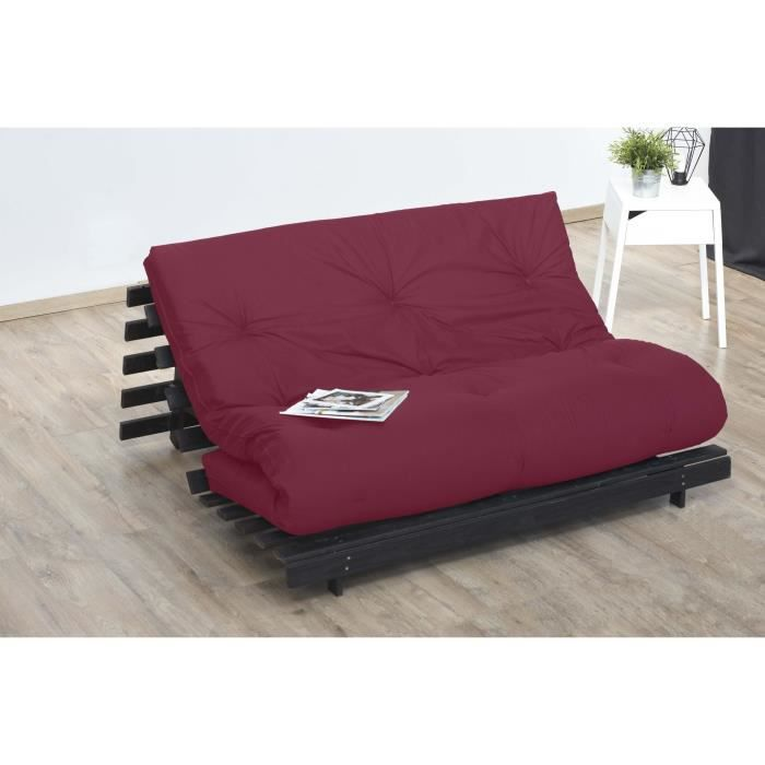 matelas futon rouge en coton 140x190 achat vente futon. Black Bedroom Furniture Sets. Home Design Ideas
