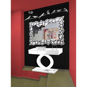 miroir mural 120 cm achat vente miroir mural 120 cm pas cher cdiscount. Black Bedroom Furniture Sets. Home Design Ideas