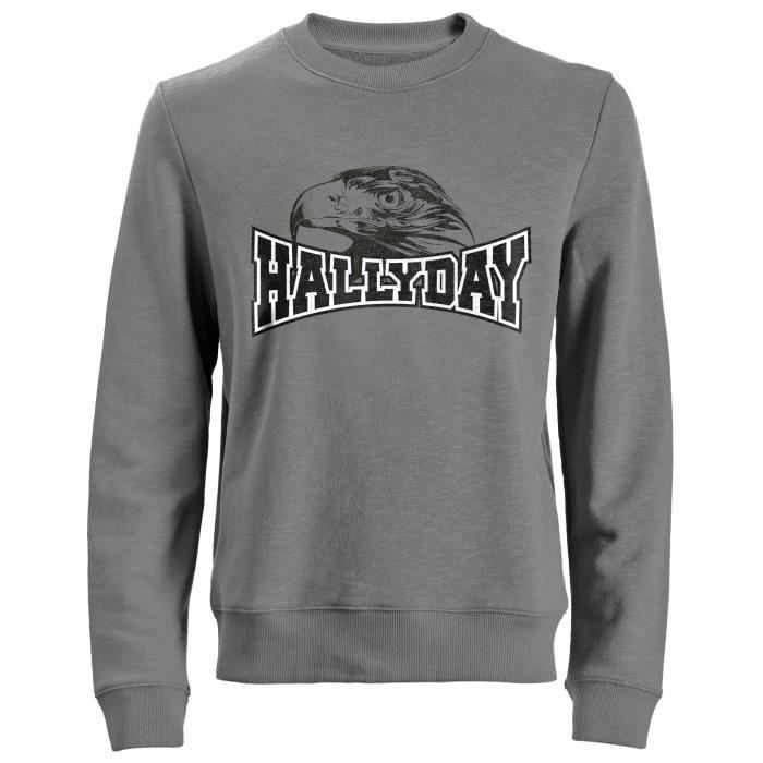 Sweat Tête d'Aigle Johnny Hallyday - Homme - Gris
