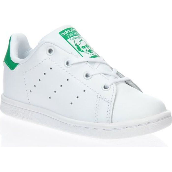 ADIDAS Baskets Stan Smith - Bébé - Blanc et vert
