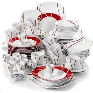 SERVICE COMPLET Malacasa Felisa 84pcs Service de Table Porcelaine