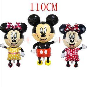 BALLON DÉCORATIF  110CM Mickey Minnie Ballon Fête d'anniversaire Ann