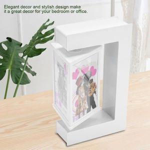 Sustentation magnétique Home Decor C-shape picture frame photo flottant tourner cadeau