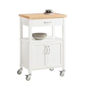 DESSERTE - BILLOT SoBuy® FKW22-WN Table Roulante Desserte de Cuisine